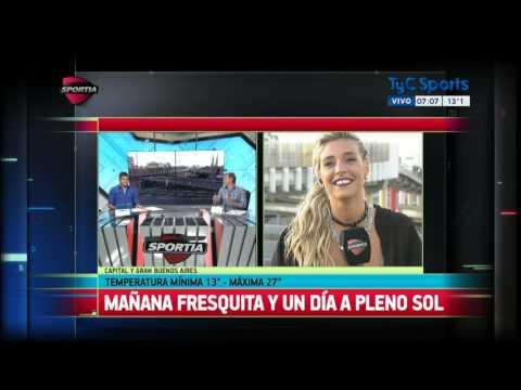 María Sol Pérez y un informe del clima accidentado en Sportia thumbnail