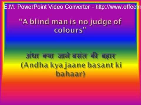 Hindi Proverbs English Translations,Equivalents