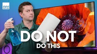 03. How to clean a TV screen the right way | Avoid damage to your 4K flat screen!