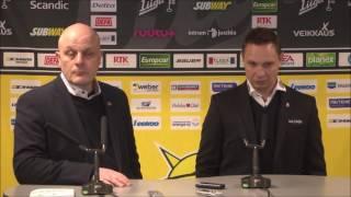 SaiPa-Tappara lehdistötilaisuus 21.2.2017