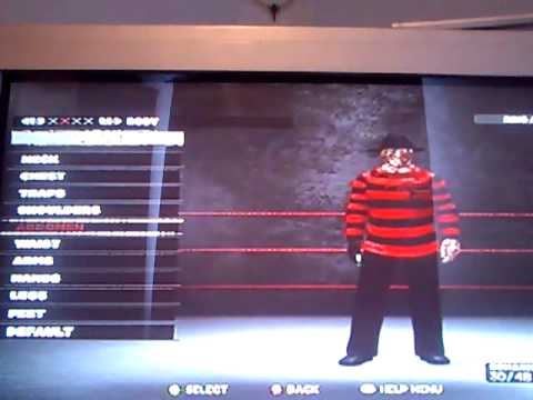 WWE 13 how to make Freddy krueger