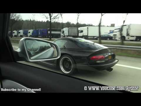 (HD) Dodge Viper GTS Heffner 650 in Action on German Autobahn! LOUD V10 Flyby's. Rev's and a Slide!