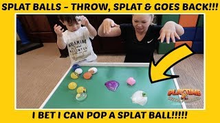 Splat Balls!!! Throw & Splat!!!  | Playtime With Parker | Children's Fun & Learning