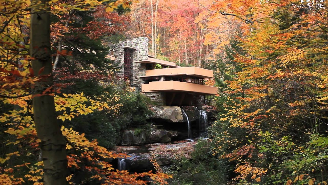 frank lloyd wrights fallingwater youtube. Black Bedroom Furniture Sets. Home Design Ideas
