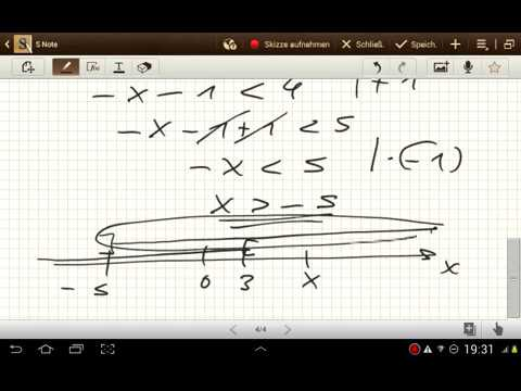 Übungsvideo Ungleichungen (Reell+Komplex)