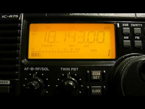 18143khz,Amateur radio.