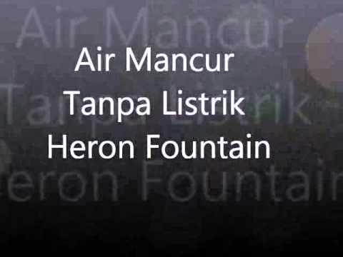 cara membuat Air Mancur dari bahan bekas Hukum Boyle dan Heron Fountain