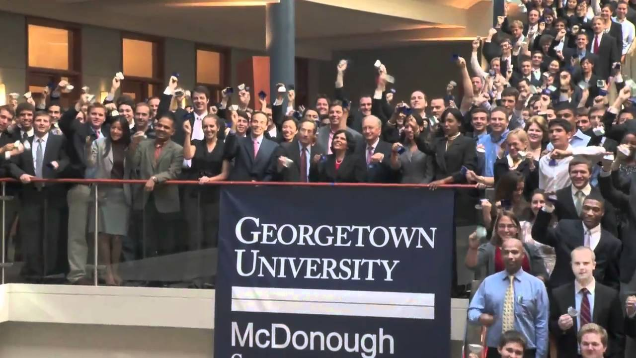 NYSE Closing Bell Ceremony at Georgetown's McDonough ...