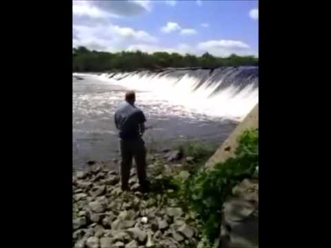 Fishing Buckhorn Dam, Cape Fear River, Carp and Bass, Moncure, NC
