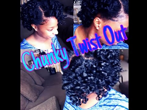 Chunky Twist Out on Short Hair Chunky Twist Out on Short