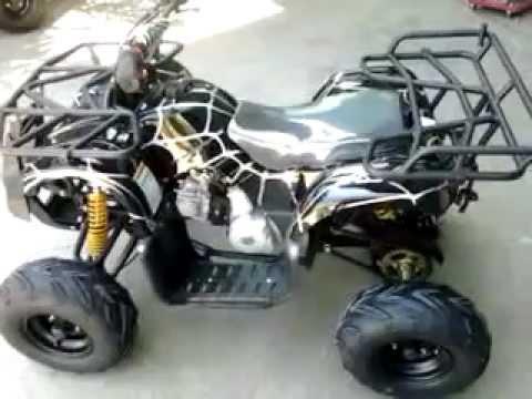 110cc spiderman atv quad bike 4 strock black youtube - Quad spiderman ...