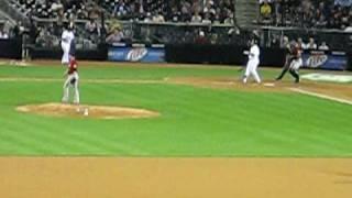 Matt Lindstrom Strikes Out Adrian Gonzalez -- 97 mph!!! (7/1/10)