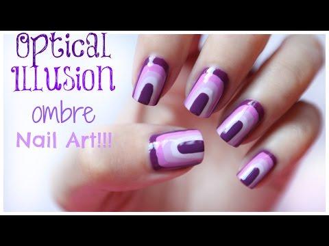 Optical Illusion Ombre Nail Art - Ombre köröm tipp