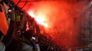 Bengaleo-Pyro UltrAslan Bernabéu. Real Madrid - Galatasaray HD