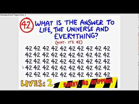 impossible quiz question 42 youtube
