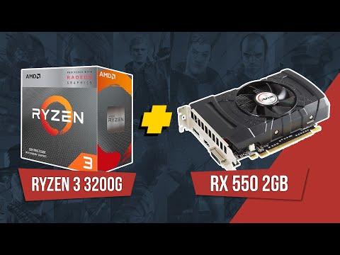 Ryzen 3 3200G + RX 550 2GB - FREE FIRE / FORTNITE / GTA V / LOL / VALORANT (1920x1080)