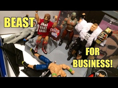 GTS WRESTLING: Brock's Revenge! WWE Action Figure Matches Animation! Mattel Elites PPV!