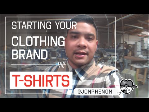 Starting your clothing brand with t-shirts | by designer @JonPhenom