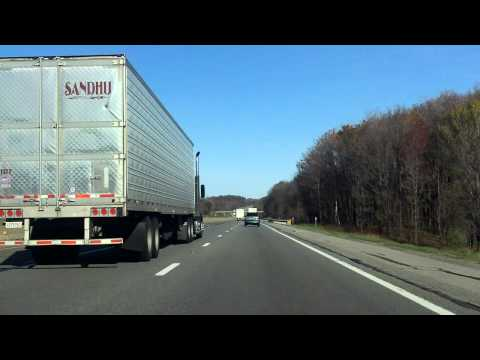 Ohio Turnpike (Exits 187 to 193) eastbound - YouTube