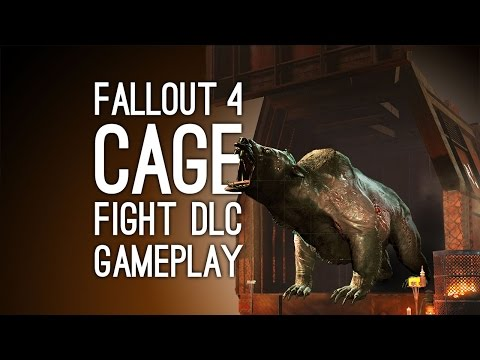Fallout 4 DLC Gameplay: Wasteland Workshop CAGE FIGHTS (Xbox One gameplay)