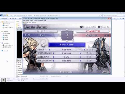 Working PSP Emulator For PC (JPCSP) - Dissidia Final Fantasy
