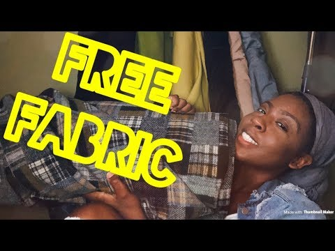 FREE FABRIC !! | VLOG | LIFE OF FASHION DESIGNER