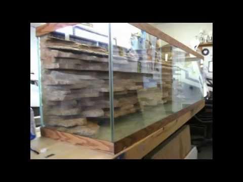 DIY aquarium background