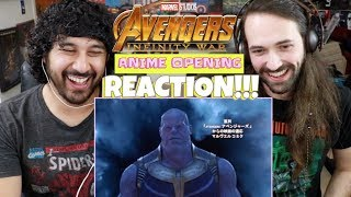 AVENGERS: INFINITY WAR Anime Opening REACTION!!!