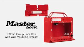 S3650 - Group Lock Box with Wall Mounting Bracket