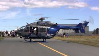 One of the helicopters starting up and taking off at Cars and Copters 2013