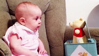 Funny babies scared and why? Reactions To Jack In The Box