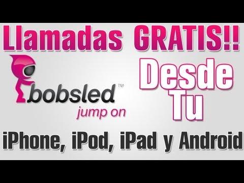 Bobsled   Llamadas gratis desde tu iPhone. iPod. iPad o Android a Celulares y Fijos