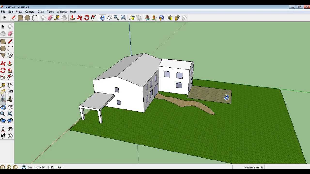 Google Sketchup tutorial 10 - Making a garden, paths and ...
