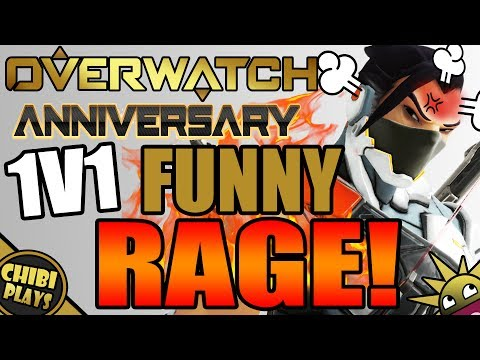 FUNNY NEW 1V1 MODE RAGE/FAILS! (Funny Overwatch Anniversary Gameplay)
