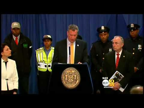 New York City Mayor Bill de Blasio,NYPD Respond To Traffic Violations By His Caravan
