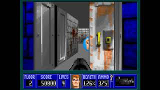 [Wolfenstein 3D] Super Shooter - E1F2 (All Secrets)
