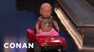 "Dwayne ""The Rock"" Johnson's Baby Crashes CONAN  - CONAN on TBS"