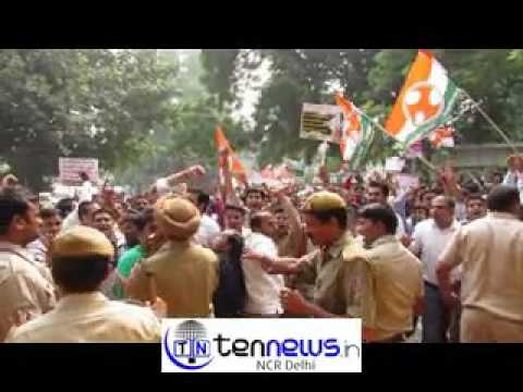 Indian Youth #Congress protest at CM DELHI residence turns violent demanding Regine  CM post