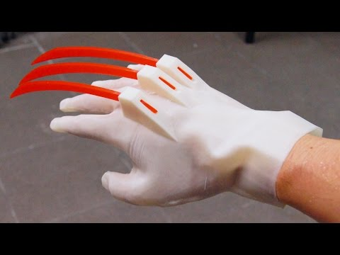 AWESOME 3D PRINTED WOLVERINE GLOVE!!!