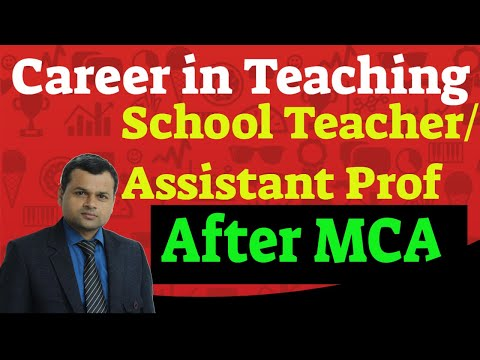 Career in teaching(School Teacher/Assistant Professor) after MCA(Master of Computer Application)