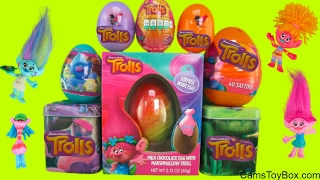 Trolls Easter Plastic Chocolate Surprise Eggs Dreamworks Blind Bags Series 4 Toys Fun Collection