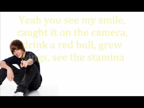 Justin Bieber Rap - Lyrics on screen