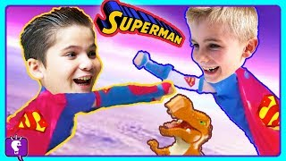 Superman Adventures! COMPILATION of Imaginext Toy Play by HobbyKids