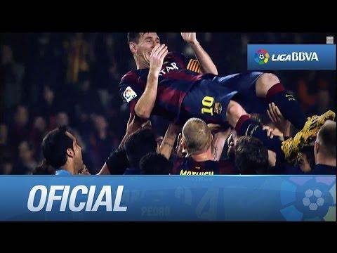 Musical: Messi bate el récord goleador de Zarra
