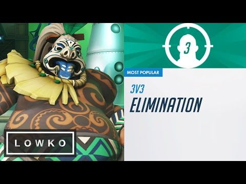 Overwatch Arcade: 3v3 Elimination with Roadhog! (New Game Mode)