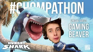 Hungry Shark CHOMPATHON! Shark Week update with The Gaming Beaver