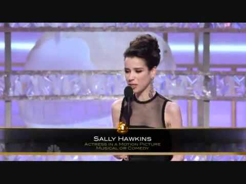 Sally Hawkins winning Golden Globe 2009