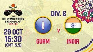 Гуам до 18 (Ж) : Индия до 18 (Ж)
