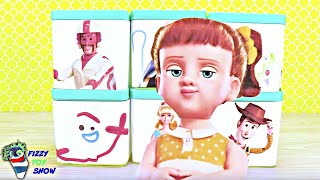 Toy Story 4 Gabby Gabby and Forky Play Fizzy and Phoebe Disk Drop Game