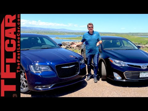 2015 Chrysler 300S vs Toyota Avalon 0-60 MPH Mega Mashup Review & Drag Race